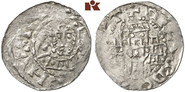 Henry IV as emperor, pfennig, Regensburg. From the Künker auction 266 (2015), no. 1386.