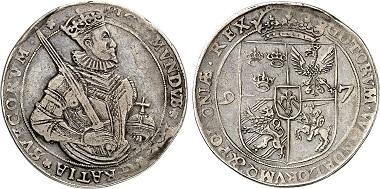 Sigismund III as King of Sweden. Daler 1597, Stockholm. From Künker auction 27 (2016)- no. 584.