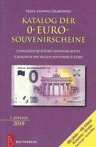 Hans-Ludwig Grabowski, Katalog der 0-Euro-Souvenirscheine, Regenstauf 2018. 416 S., durchgehend farbige Abbildungen, Paperback, 12,5 x 19 cm. ISBN: 978-3-86646-165-9. 19,90 Euro.