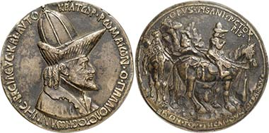 John VIII Palaeologos. Medal by Pisanello. From auction Gorny & Mosch 197 (2011), 5729.
