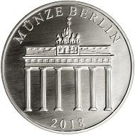 Die Gedenkprägung in .333 Silber.