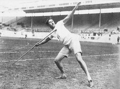 Der Schwede Erik Lemming gilt als Erfinder der modernen Speerwurftechnik.
