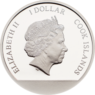 Cook Islands / 1 Dollar / silver .999 / 1/10 oz / 18mm / Mintage: 2018.