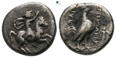 Troas. Dardanos. (Timonaktos), magistrate ca 400-300 BC.  Triobol AR. 12mm., 2,21g. very fine.