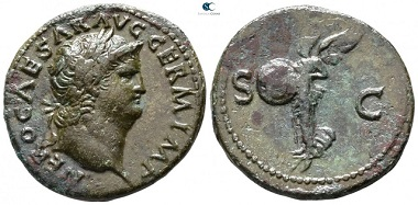 Nero AD 54-68. Rome. As AE. 29mm., 10,69g. very fine.
