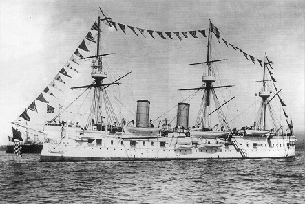 The Russian armored cruiser Dmitri Donskoi was launched in August of 1882.