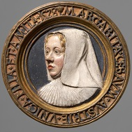 Portrait medallion of Archduchess Margaret of Austria, Conrat Meit, dated: 1528. Photo: KHM-Museumsverband