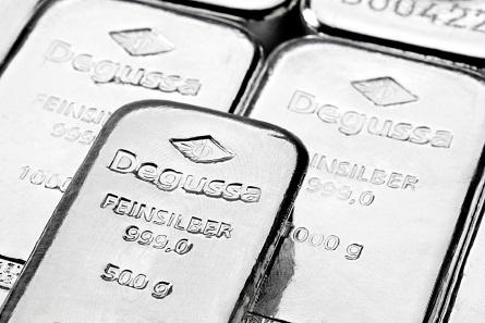 Degussa Silberbarren. Foto: Degussa Goldhandel GmbH.