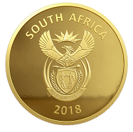South Africa / 500 Rand / gold .999 / 31.1 g / 32.69 mm.
