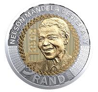 South Africa / Five Rand / Bimetallic / 9.5 g / 26 mm.