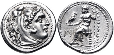 Lot 63. Kings of Macedon. Alexander III 'the Great'. 336-323 BC. AR Drachm. EF. Estimate: 300 USD.