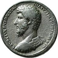 No. 198. Lucius Verus, 161-169. Bronze medallion, Rome, 164. Unedited unique specimen. Dark green patina. Nearly extremely fine. Estimate: 15,000 euros.