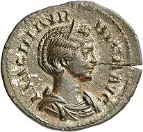 No. 361. Magnia Urbica, wife of Carinus. Denarius, Lugdunum, summer of 284, RIC 338. Fourth known specimen. Estimate: 5,000 euros.