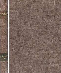 No. 2587. Canessa, C. & E. Naples, June 28, 1923. Collectione del fu Comm. Enrico Caruso Monete e Medaglie in Oro. 1458 lots, 104 pp., 64 plates, Estimate: 100 euros.