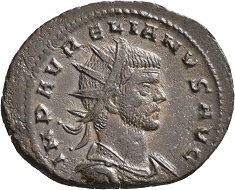 No. 1148. Aurelian, 270-275. Antoninianus. First issue. Dec. to Jan. 217. RIC online 1416 (this specimen depicted). Only two known specimens. Extremely fine. Estimate: 500 euros.