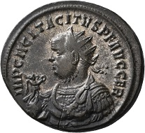 No. 1286. Tacitus, 275-276. Antoninianus, Ticinum, second issue. First half of 276. Third known specimen. Extremely fine. Estimate: 1,000 euros.