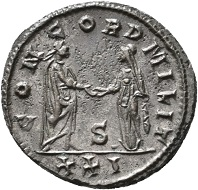 No. 1596. Probus, 276-282. Antoninianus. Siscia, sixth issue, 281. Extremely rare. Unedited to date. Nearly extremely fine. Estimate: 1,000 euros.