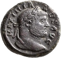 No. 1816. Maximianus Herculius, 286-305 and 307-310.Tetradrachm, Alexandria, ca fall of 298. Nearly extremely fine. Estimate: 1,000 euros.