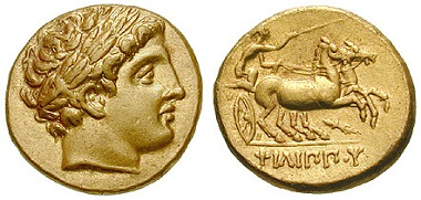 Makedonien. Philipp II. Stater, 323-322. vz-st. 4.750 Euro.