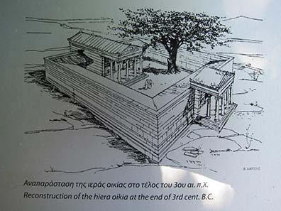 Rekonstruktion des heiligen Haus des Zeus. Foto: KW.