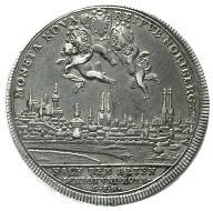 Katalog 115, Los 198: Altdeutsche Münzen und Medaillen, Nürnberg-Stadt, Doppelter Reichstaler, o.J. (1706). fast vorzüglich, schöne Patina, äußerst selten. Schätzung: 12.500 Euro.
