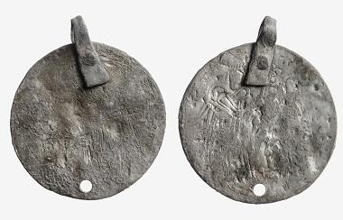 Diese Nachahmung basiert auf einer seltenen Goldmünze des byzantinischen Kaisers Michael V. (1041-1042). Foto: The National Museum of Finland.