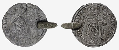 A local imitation based on Constantine IX (1042-1055) and Romanus III's (1028-1034) miliaresion. Photo: The National Museum of Finland.