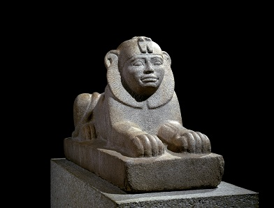 Granite sphinx of Taharqo, Kawa, Sudan, c. 680 BC. Image: The Trustees of the British Museum.