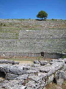 The theatre of Dodona. Photograph: KW.