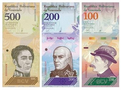 The new banknotes depict important Venezuelan personalities like Ezequiel Zamora (100 VES) and Francisco de Miranda (200 VES). Sourced from the website of the Banco Central de Venezuela - public domain.