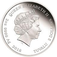 Tuvalu / 2 dollars / silver .999 / 62.21 g / 55.6 mm / Design: Jennifer McKenna / Mintage: 850.