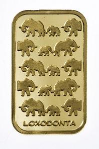 Goldbarren der Serie Loxodonta.