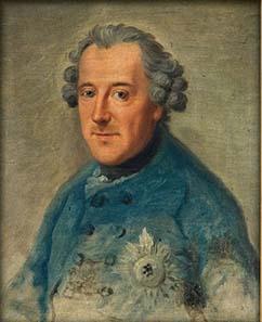 Johann Georg Ziesenis' Porträt Friedrichs II. von 1763.