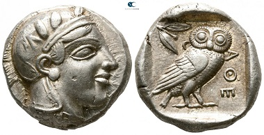 Athens. Tetradrachm, circa 449-431 BC (time of Pericles). Very fine.