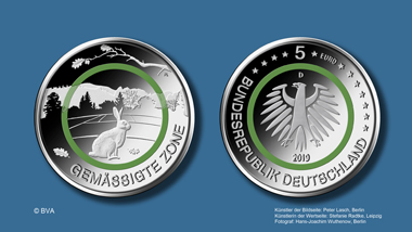 "5-euros collectors' coin ""Temperate Climate Zone"" of the"
