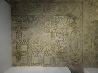 Ursprüngliches Mosaik aus der westgotischen Kathedrale. Foto: KW.