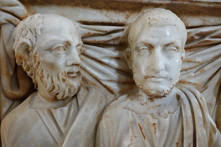 A detail of the 3rd-century sarcophagus. Photo: KW.
