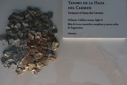 Coins from several treasure finds – from Roman times up until the 12th century – are on display. Photo: KW.