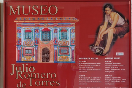 The Museo Julio Romero de Torres. A must-see especially for lovers of Spanish banknotes! Photo: KW.