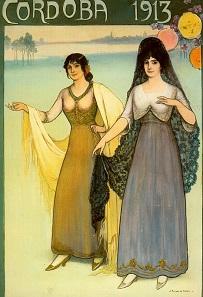 Plakat, das bereits vor dem 1. Weltkrieg Touristen nach Cordoba lockt.