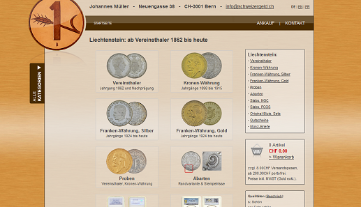 Im Schweizer Münzen- und Banknote-Online-Katalog finden Sie nun auch alle Liechtensteiner Münzen ab 1862.