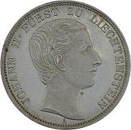 Fürst Johann II. Vereinsthaler. 1862, Wien.