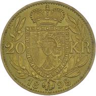 Fürst Johann II. 20 Kronen 1898, Wien.