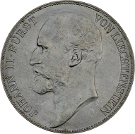 Fürst Johann II. 5 Kronen 1900, Wien.