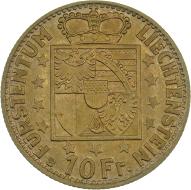 Fürst Franz Joseph II. 10 Franken 1946, Bern.
