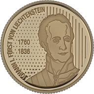 Fürst Johann I. 50 Franken 2006, Bern.