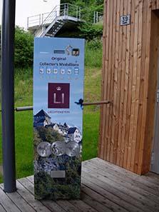 Medaillenautomat in Liechtenstein.