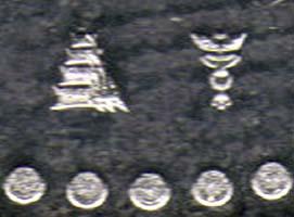 Detailaufnahme des Prägezeichens.