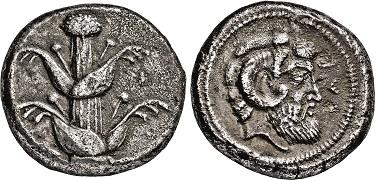 Nr. 2424: Ägypten. Kyrenaika. Barce. Tetradrachme, 480-435 v. Chr. Taxe. 12.500 Euro.