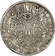 No. 5932: Saxe-Gotha. Frederick I, 1675-1680-1691. Thick double reichstaler 1691, Gotha. Unique? Very fine to extremely fine. Estimate: 25,000 euros.